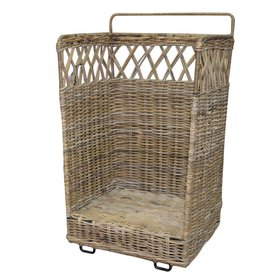AVH-Collectie Mauris rotan mand voor hout 40x40xH100 cm