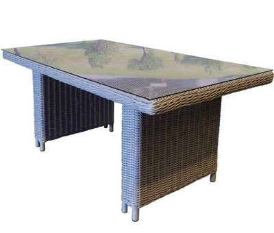 AVH-Collectie San Diego lounge-dining tuintafel 140x80xH67 cm grijs
