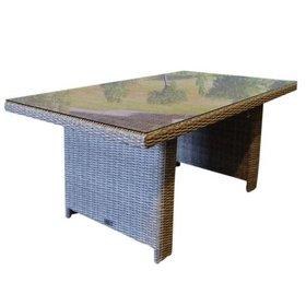 AVH-Collectie San Francisco lounge-diningtafel 140x80xH70 cm grijs
