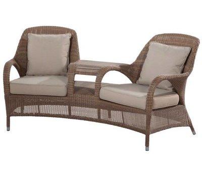 4 Seasons Outdoor Sussex tuinbank love seat bruin 4- Seasons Outdoor