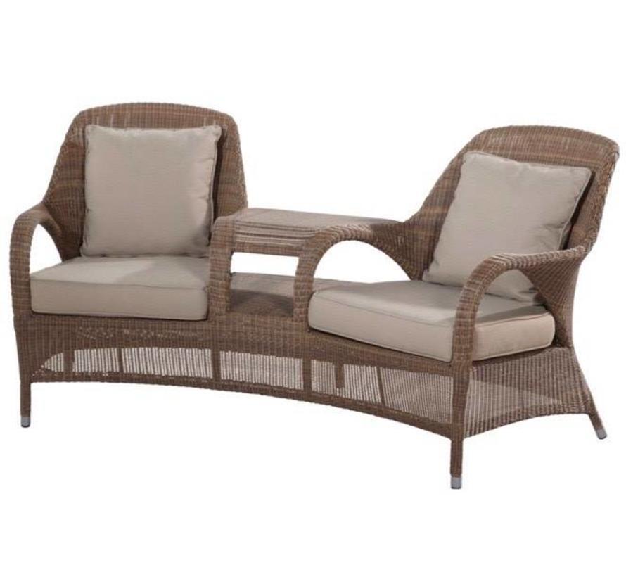 Sussex tuinbank love seat bruin 4- Seasons Outdoor