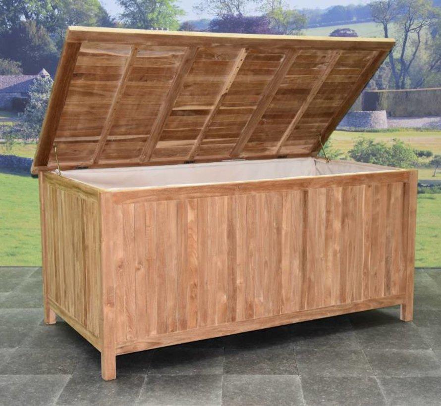 Kussenbox opbergbox XL teak 185x100xH85cm