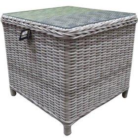AVH-Collectie Toscane XL bijzettafel 50x50xH46 cm wit grijs