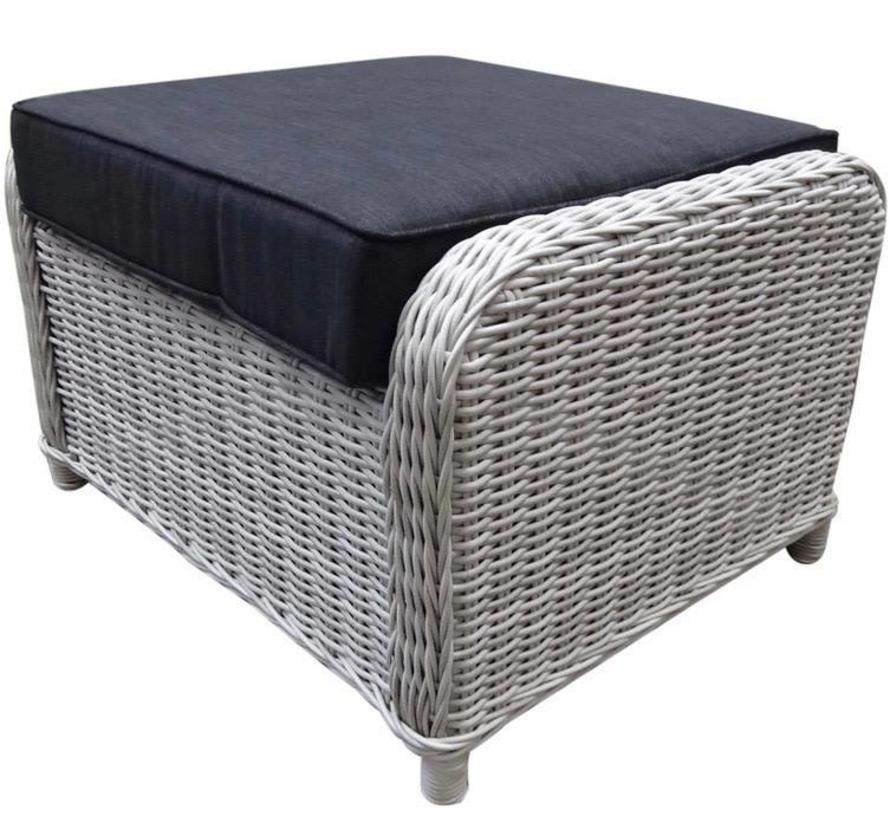 Toscane XL voetenbank 72x58xH46 cm wit grijs