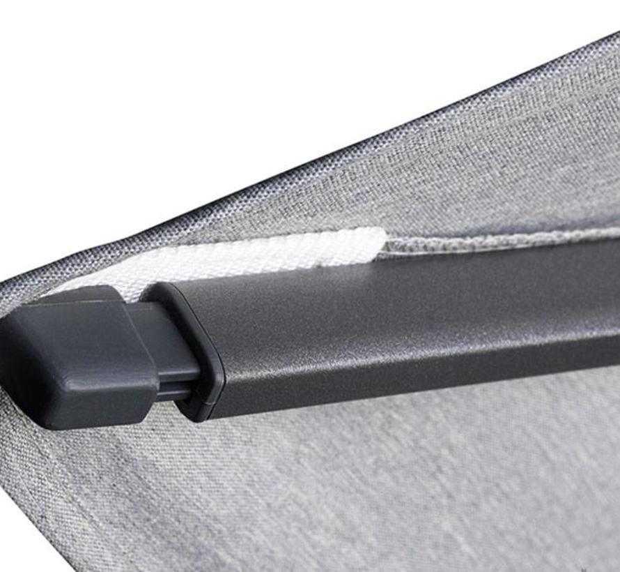 Challenger T1 zweefparasol 300x300 cm zwart