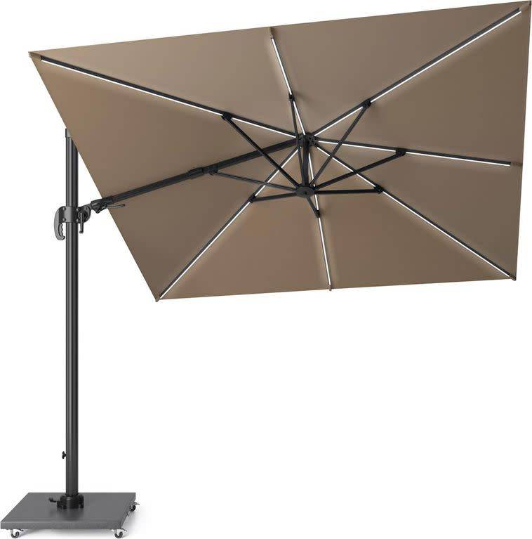 Challenger T2 glow zweefparasol 300x300 cm taupe