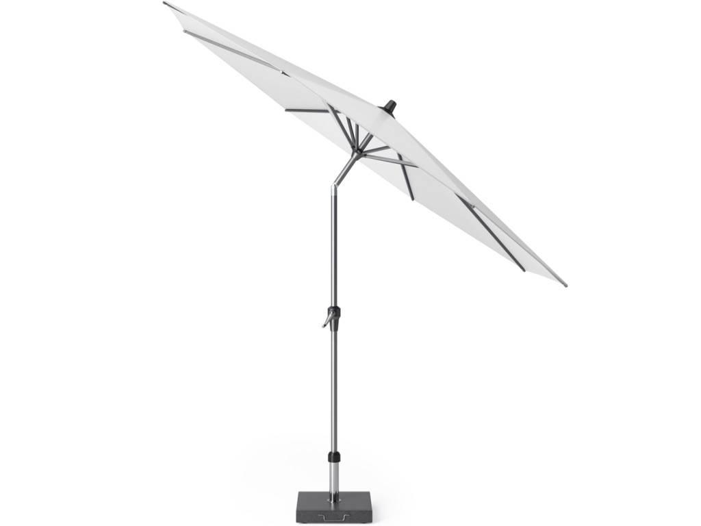 Riva parasol 300 cm rond wit met kniksysteem