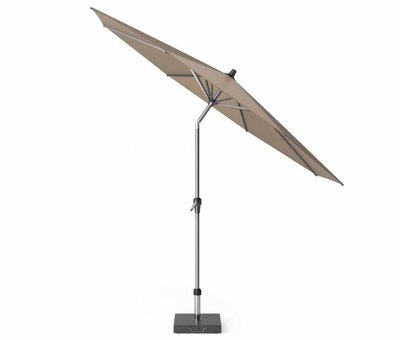 Platinum Riva parasol 300 cm rond taupe met kniksysteem