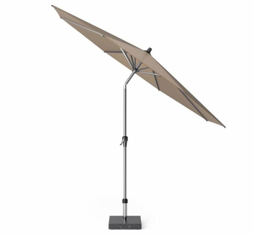 Riva parasol 300 cm rond taupe met kniksysteem