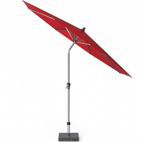 Platinum Riva parasol 300 cm rond rood met kniksysteem