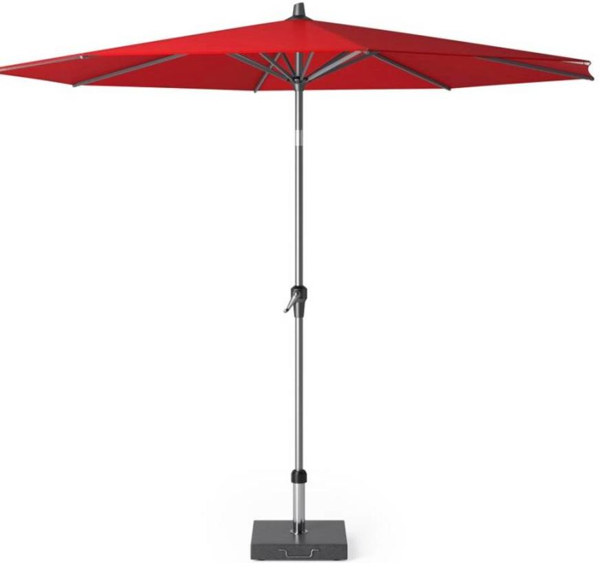 Riva parasol 300 cm rond rood met kniksysteem