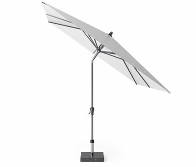 Platinum Riva parasol 250x250 cm wit met kniksysteem