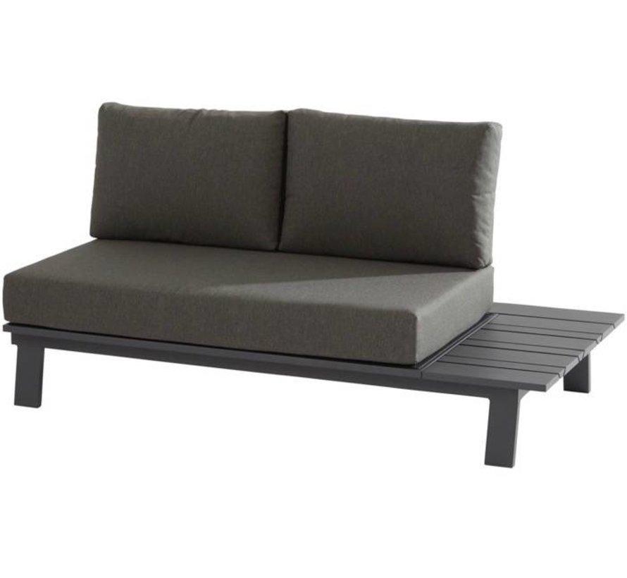 Sofia 2-zitsbank met tafel links aluminium matt carbonTaste4SO