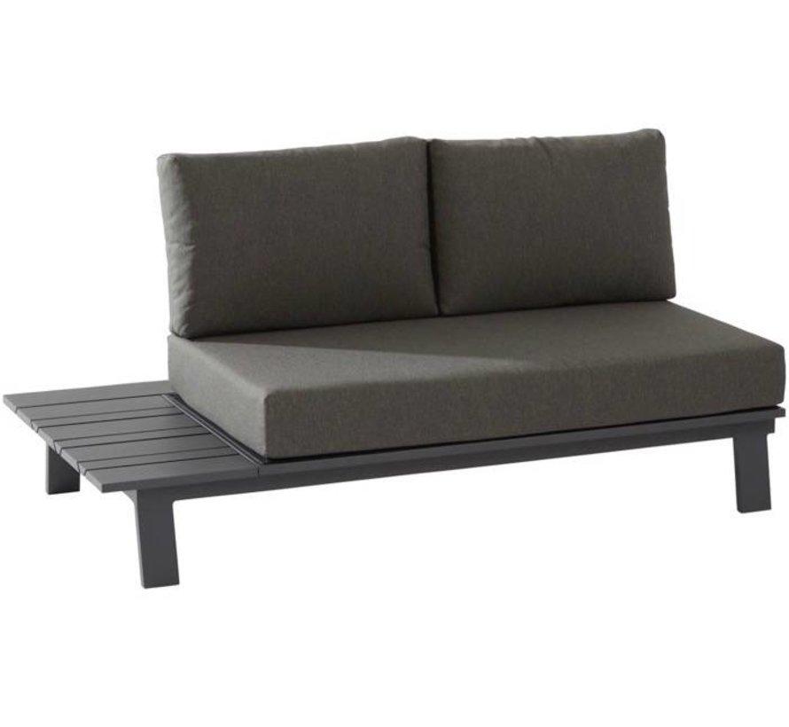 Sofia 2-zitsbank met tafel rechts aluminium matt carbonTaste4SO