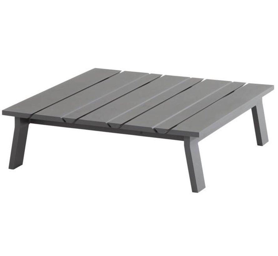 Sofia lounge tuintafel 85x85 cm aluminium matt carbonTaste4SO