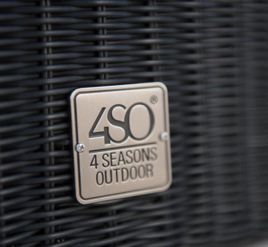Avila 2,5-zitsbank polyloom antraciet 4-Seasons Outdoor