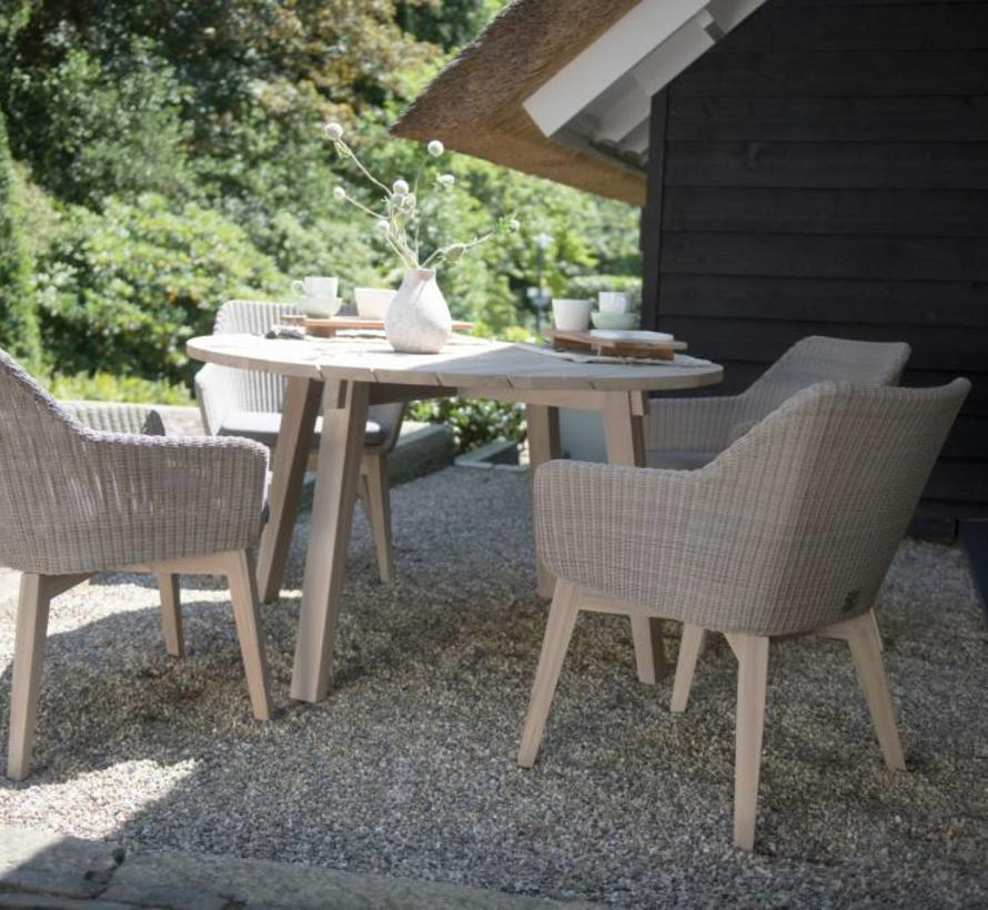 Avila dining tuinstoel polyloom pebble - teak poten 4-Seasons Outdoor