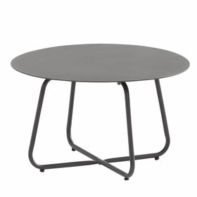 4 Seasons Outdoor Dali lounge tuintafel 58,5xH35 cm rond antraciet 4-Seasons Outdoor