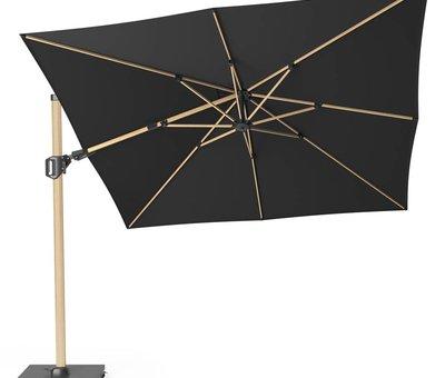 Platinum Challenger T2 premium zweefparasol 300x300 cm oak mast faded black