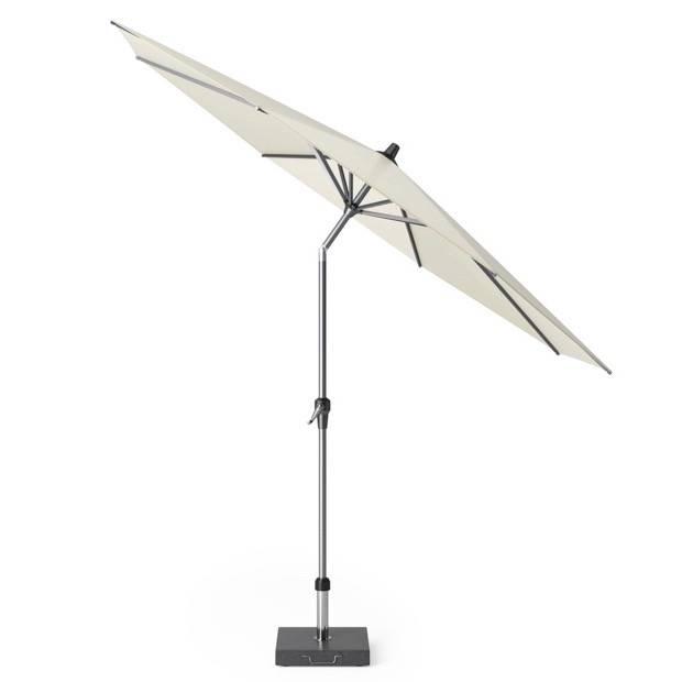 Riva parasol 300 cm rond ecru met kniksysteem