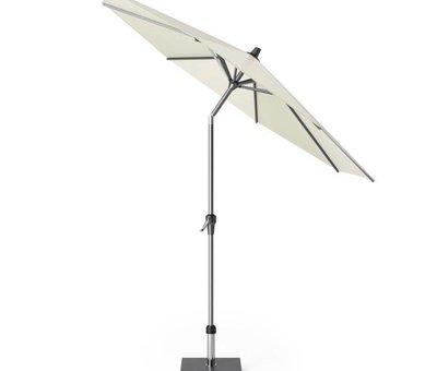 Platinum Riva parasol 250 cm rond ecru met kniksysteem