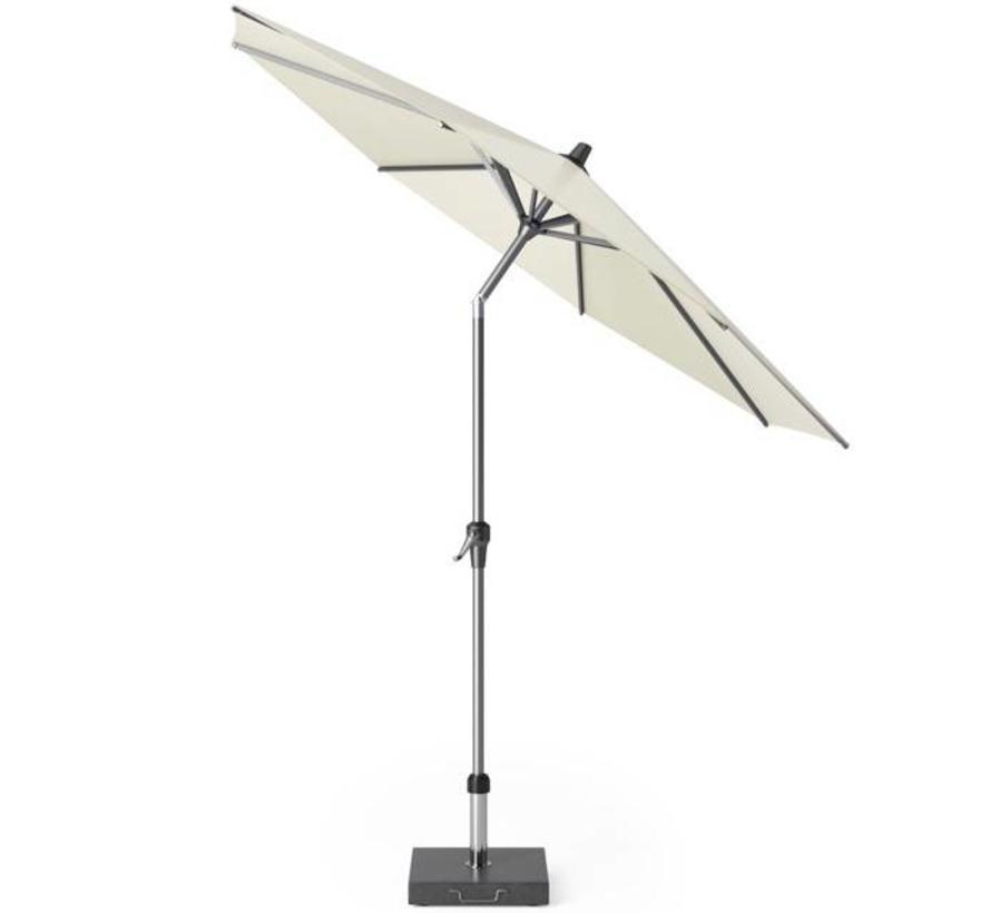 Riva parasol 250 cm rond ecru met kniksysteem