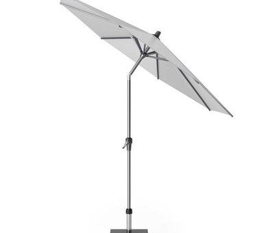 Platinum Riva parasol 250 cm rond lichtgrijs met kniksysteem