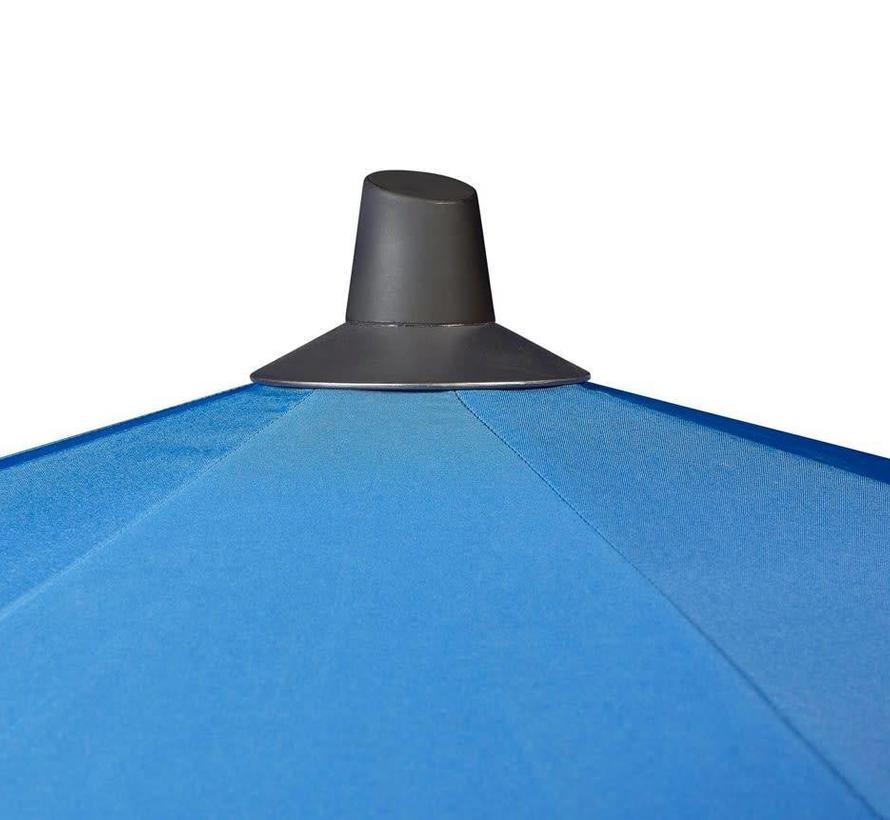 Riva parasol 300 cm rond lichtgrijs met kniksysteem