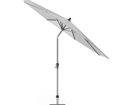Platinum Riva parasol 300 cm rond lichtgrijs met kniksysteem