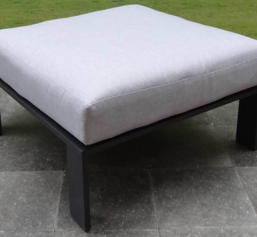 Almeria hoek loungeset 5-delig aluminium zwart