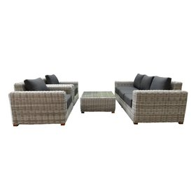 AVH-Collectie Ancona AVH stoel-bank loungeset 4-delig wit grijs
