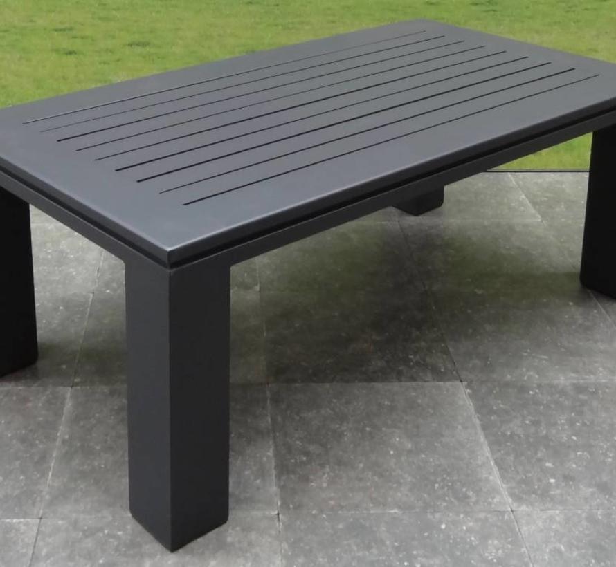 Almeria stoel-bank loungeset 4-delig aluminium zwart