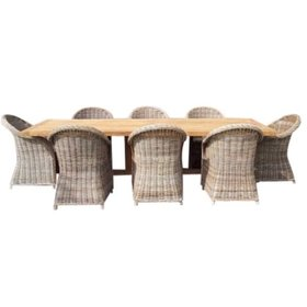 AVH-Collectie Antigua Roma dining tuinset 250x120xH77 cm 9-delig