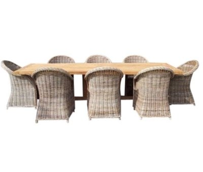 AVH-Collectie Antigua Roma dining tuinset 250x120xH77 cm 9-delig