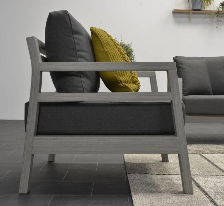 Bali stoel-bank loungeset 4-delig grijs vironwood