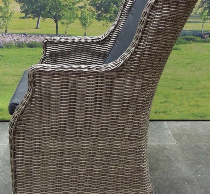 Bergamo Darwin dining tuinset 180x90xH75 cm 5-delig graniet grijs