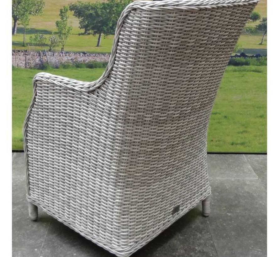 Bergamo Darwin dining tuinset 160x90xH75 cm 5-delig graniet wit grijs