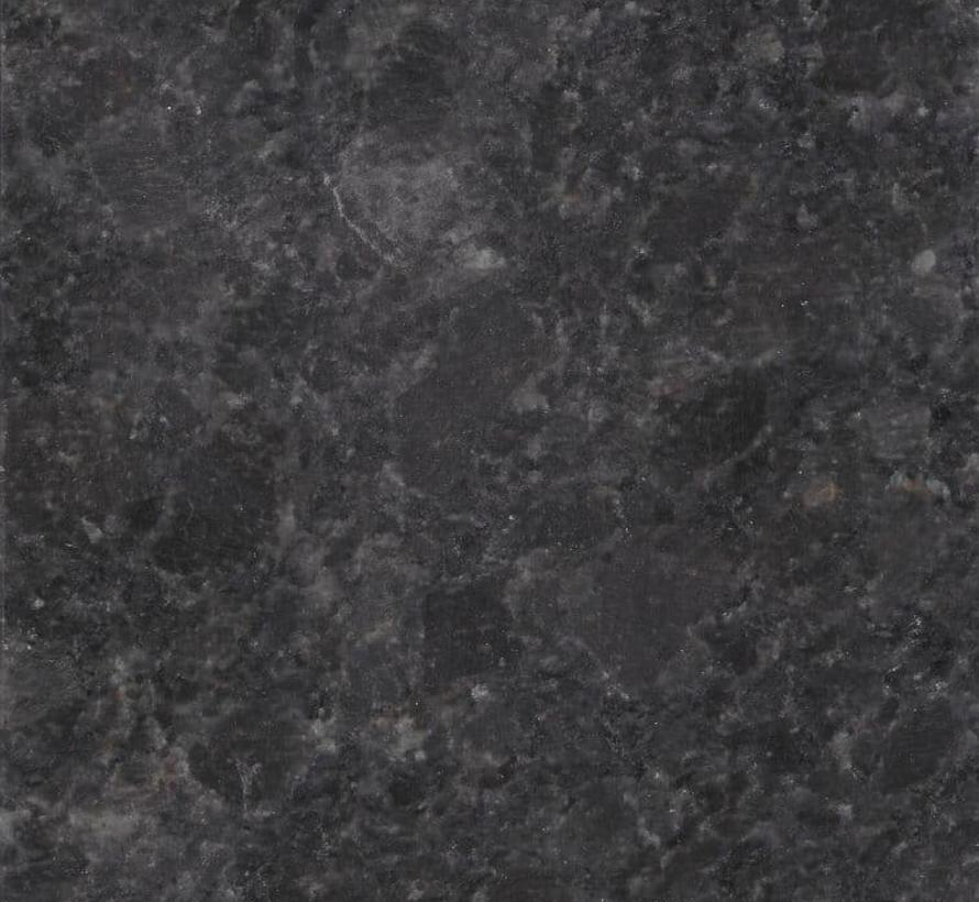 Bergamo dining tuintafel 160x90xH75 cm 2 cm graniet pearl grey gezoet