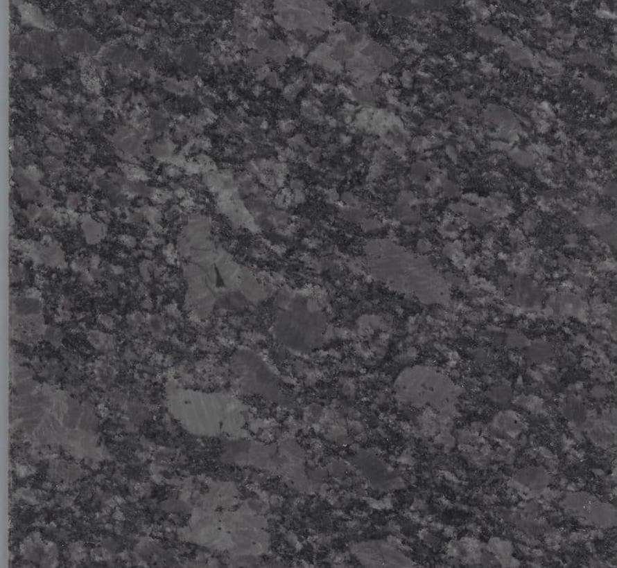 Bergamo dining tuintafel 90x90xH75 cm 2 cm graniet pearl grey gezoet