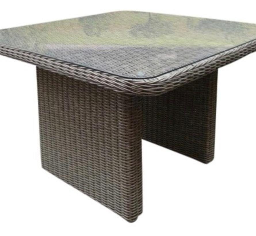 Bilbao XL hoek dining loungeset verstelbaar 5-delig grijs