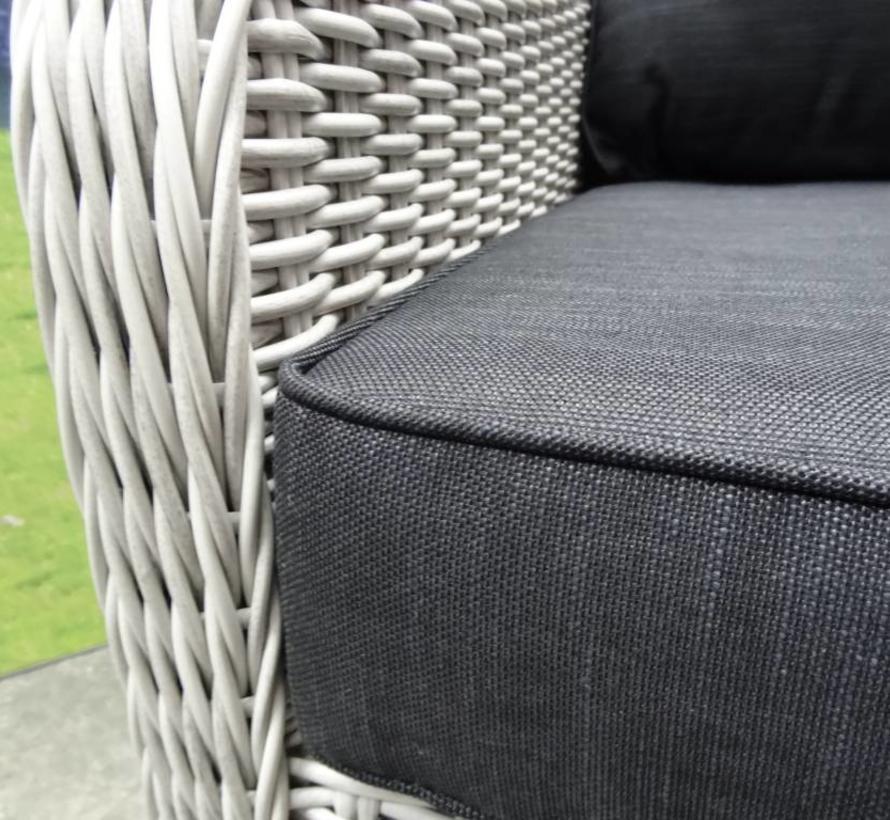 Bilbao XL hoek dining loungeset verstelbaar 6 delig wit grijs
