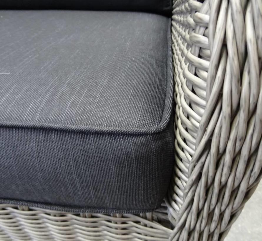 Bilbao XL hoek dining loungeset verstelbaar 7 delig grijs