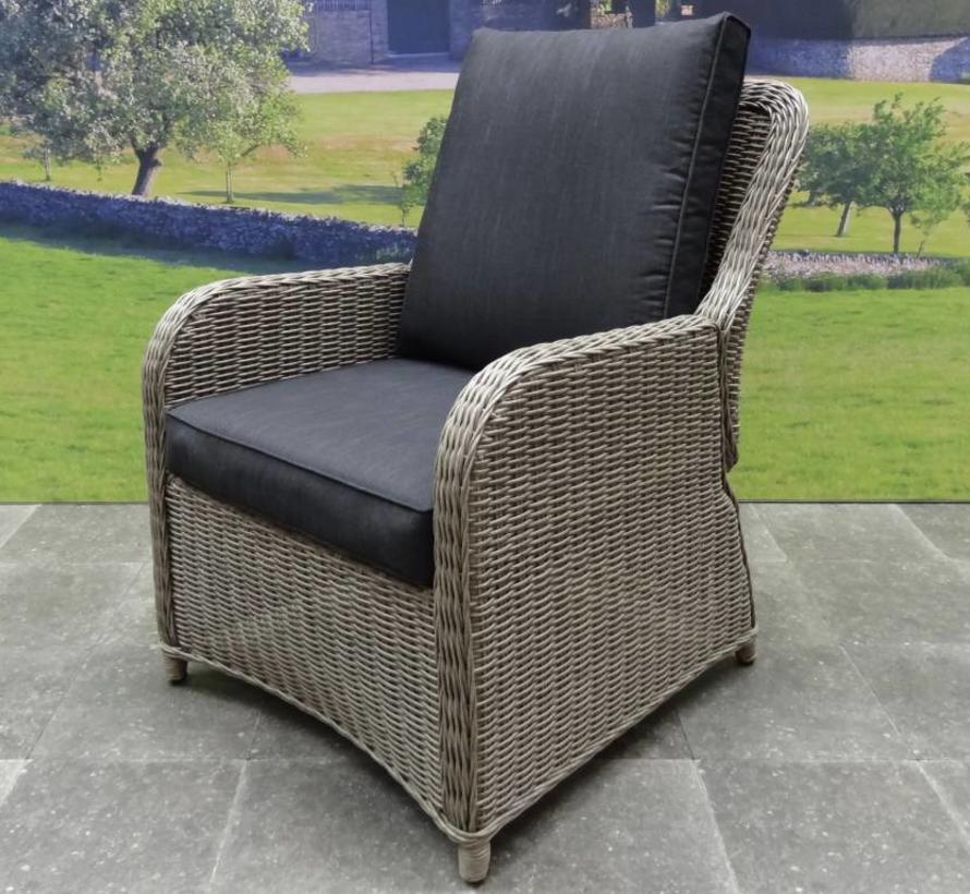 Bilbao XL stoel-bank dining loungeset verstelbaar 4-delig grijs