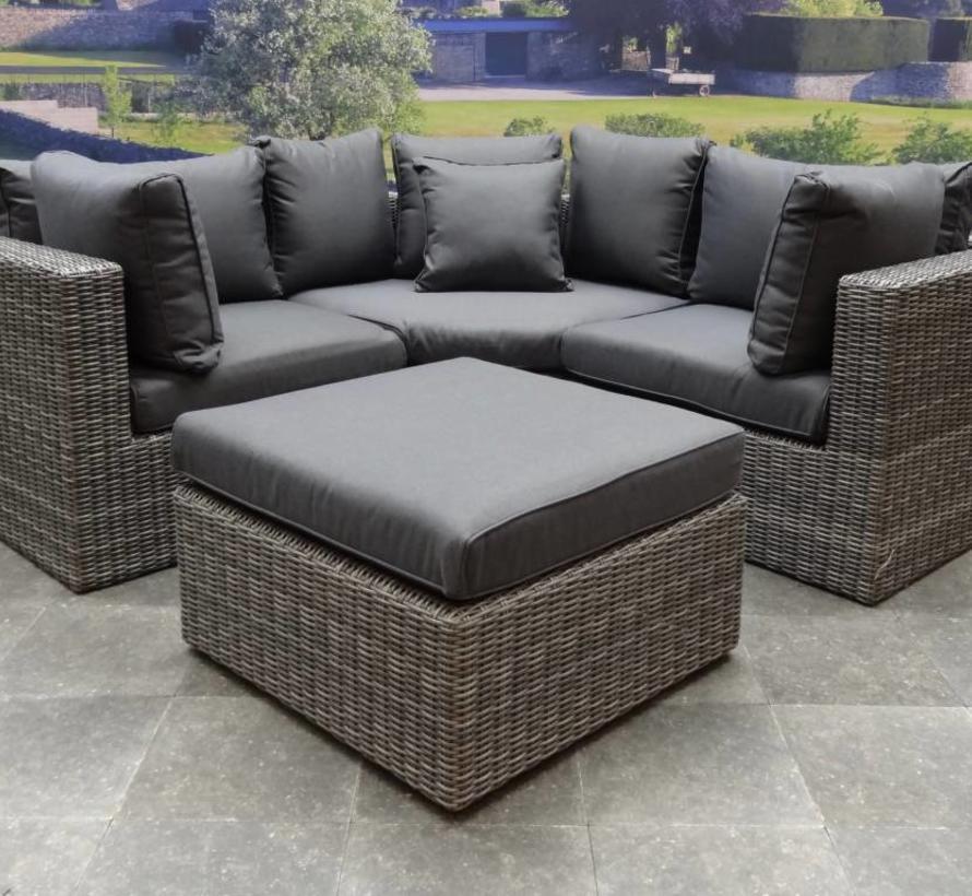 Ferro XL hoek loungeset 4-delig antraciet