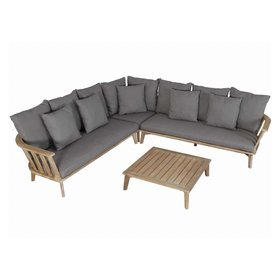 AVH-Collectie Barcelona hoek loungeset 4-delig acacia bruin