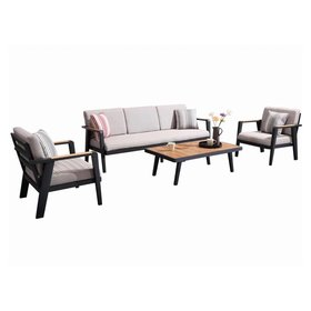 Higold Emoti stoel-bank loungeset 4-delig zwart