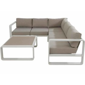 Taste 4SO Escape hoek loungeset 4-delig wit aluminium