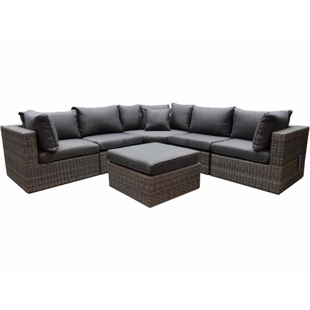 Ferro XL hoek loungeset 6-delig antraciet