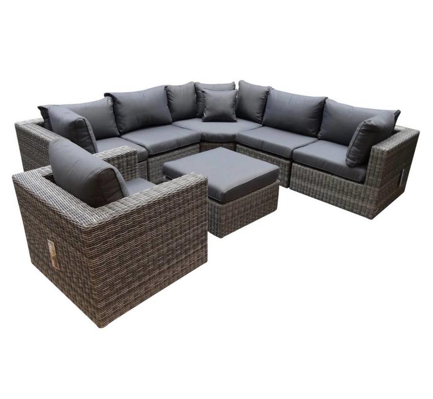Ferro XL hoek loungeset 7-delig antraciet