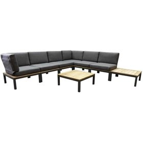 AVH-Collectie Granada hoek loungeset 8-delig antraciet aluminium